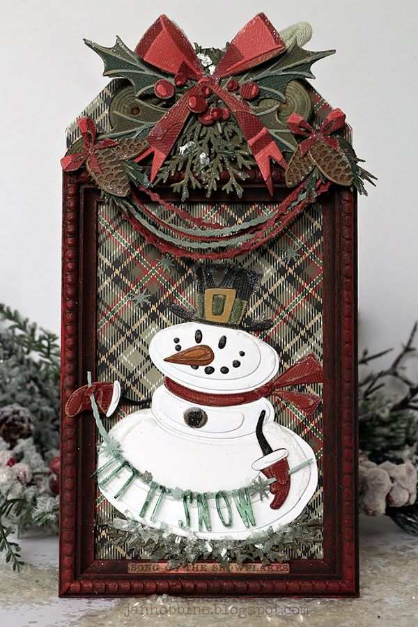 Tim Holtz 2020 Christmas MR SNOWMAN TAG   TIM HOLTZ SIZZIX CHAPTER 4 2019 RELEASE in 2020