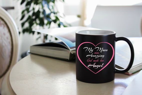 Memorial mugs memorial gifts for loss of mother my mum was items similar to memorial mugs memorial gifts for loss of mother my mum was amazing god made her an angel angel mother memorial mug for mum loss on negle Choice Image