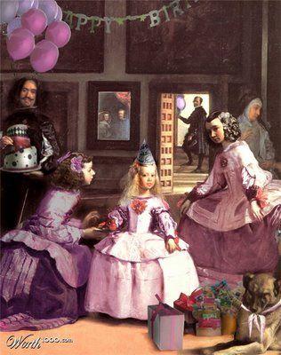 Hella Heaven Las Meninas Parody Art Parody Las Meninas Art Birthday