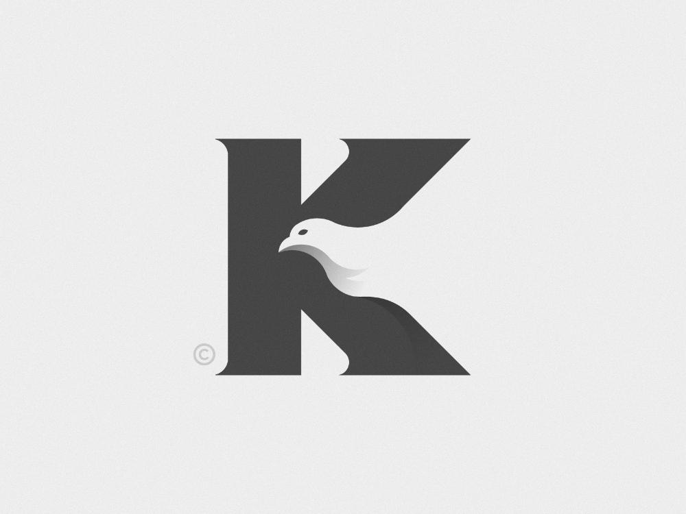 K Bird Logo Design Art Graphic Design Flyer Bird Logo Inspiration