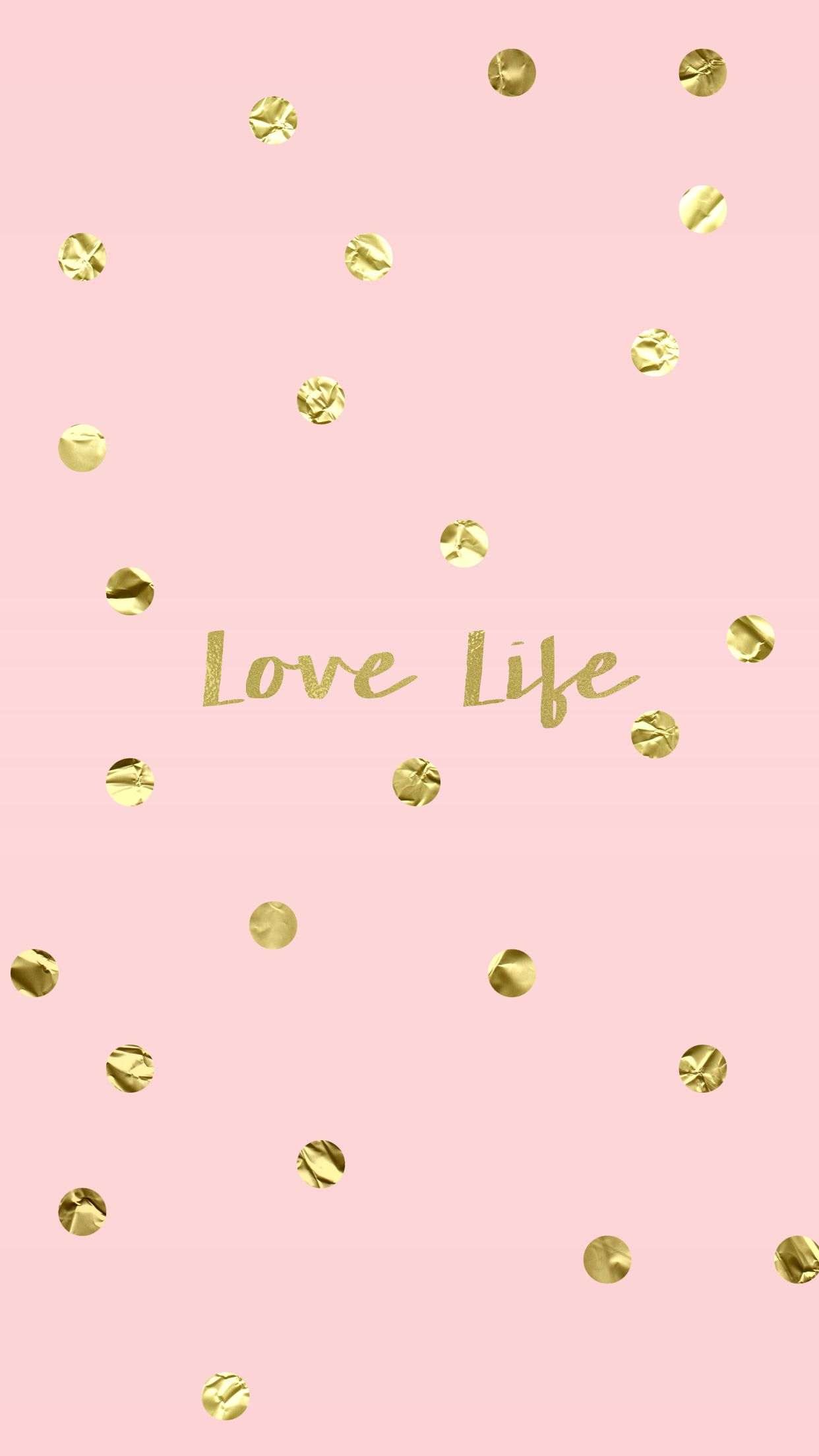 love life blush pink gold iphone wallpaper background | wallpapers