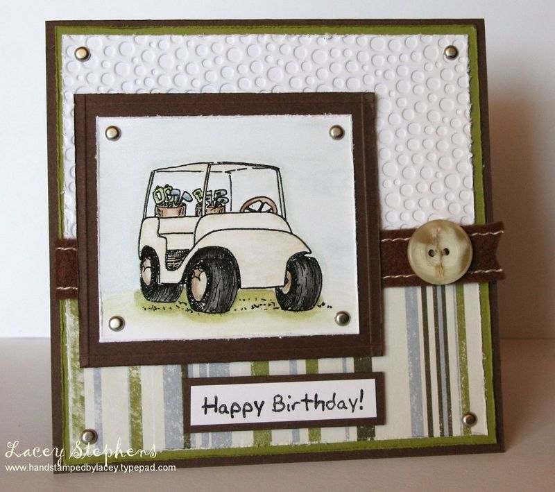 Awesome Card Making Ideas Using Cuttlebug Part - 5: Dude Card By LaceyStephens - Cards And Paper Crafts At Splitcoaststampers