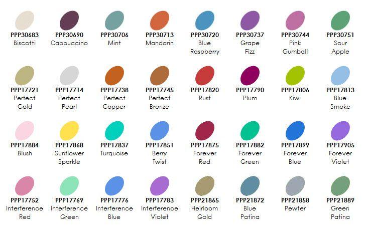 Ranger Perfect Pearls Online Scrapbook Color Chart Beautiful Handmade Cards
