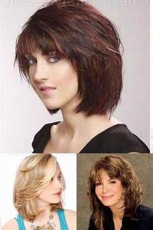 feathered  layered medium length hairstyles  bing images