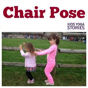 how to do chair pose  yoga for kids kids yoga poses