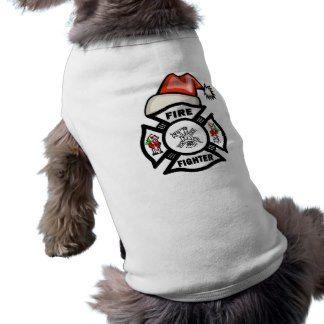 Firefighter Santa Claus Pet Clothing
