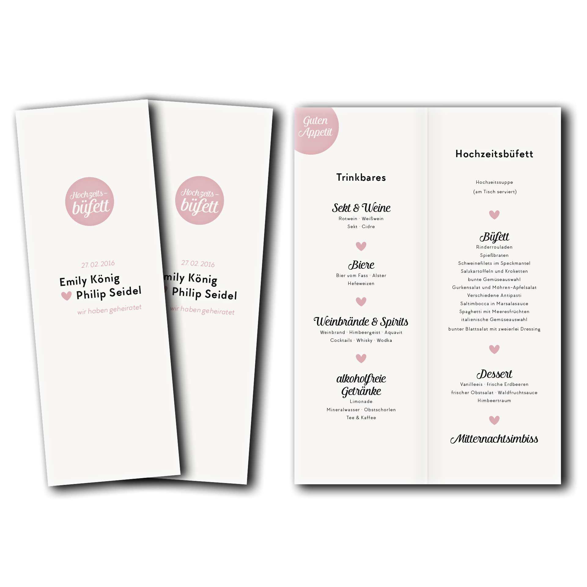 Hochzeitskarten Menukarte Kartendesign Save The Date Im Kalender