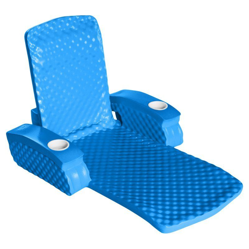 pool floating lounge chairs eames fiberglass rocking chair trc recreation baja ii folding foam float aquamarine blue 6570126