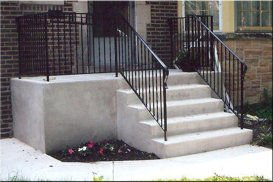 Best Concrete Front Steps Design Ideas Pictures - Decorating ...