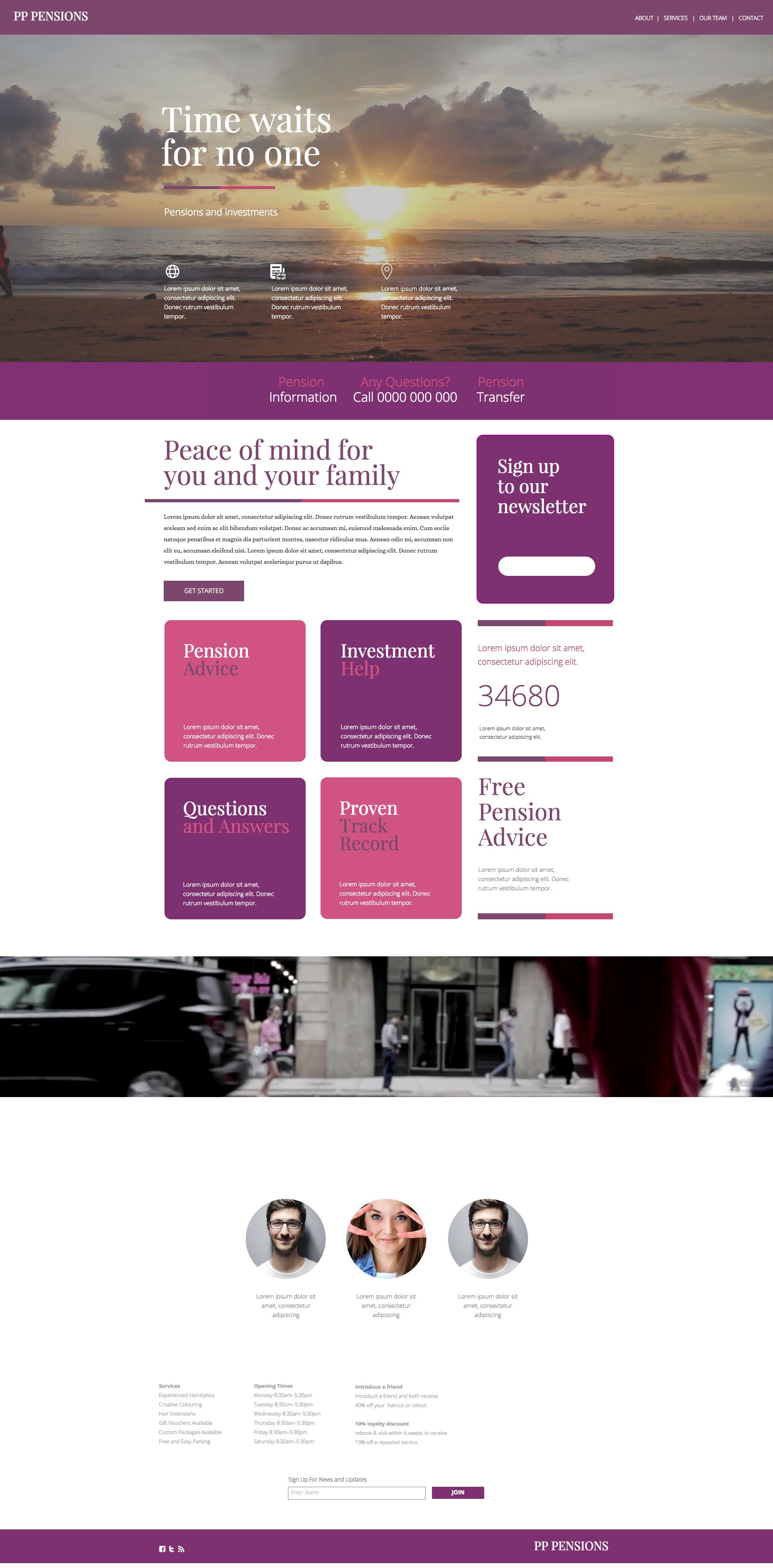 Insurance Investment Website Theme Fully Responsive Web Design Norwich Norfolk Modern Website