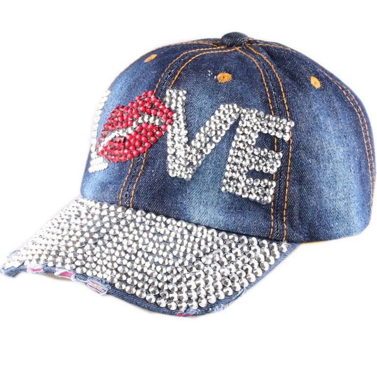 20475bf0e69 Love Bling Denim Baseball Cap
