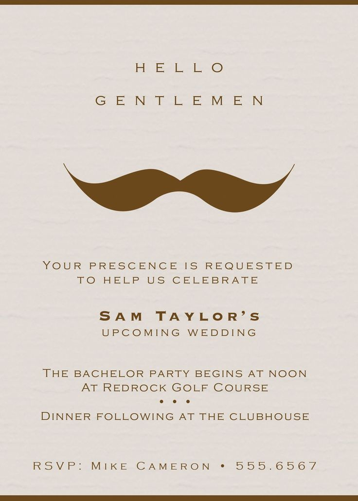 Classic Gentlemens Bachelor Party Invites A Classy Bachelor Party