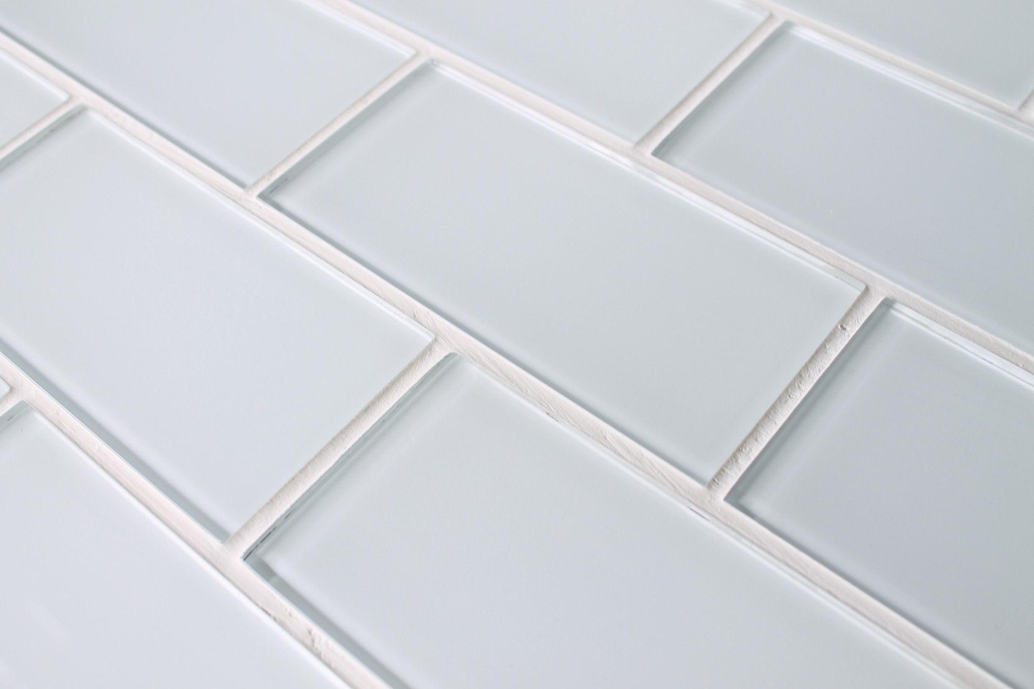 Snow White 3x6 Glass Subway Tiles White Glass Tile Glass Subway Tile Linear Glass Tile
