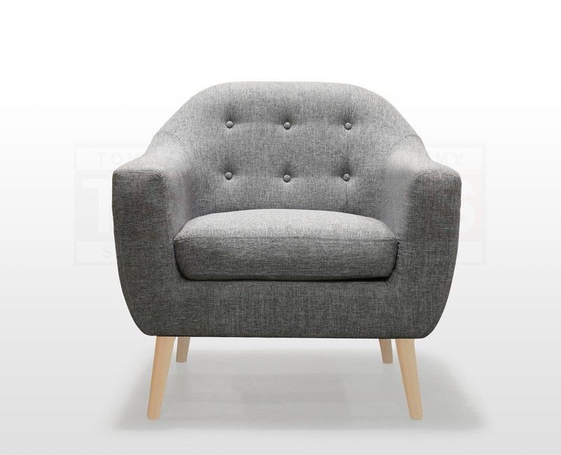 Single Seater Fabric Armchair Sofa Jonas Collection Space Grey Beech Legs Single Seater Sofa Scandinavian Armchair Armchair