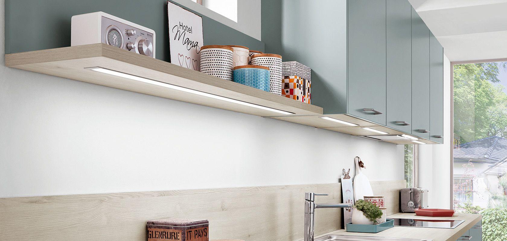Bildergebnis für beleuchtung für küchenoberschränke | küche ...