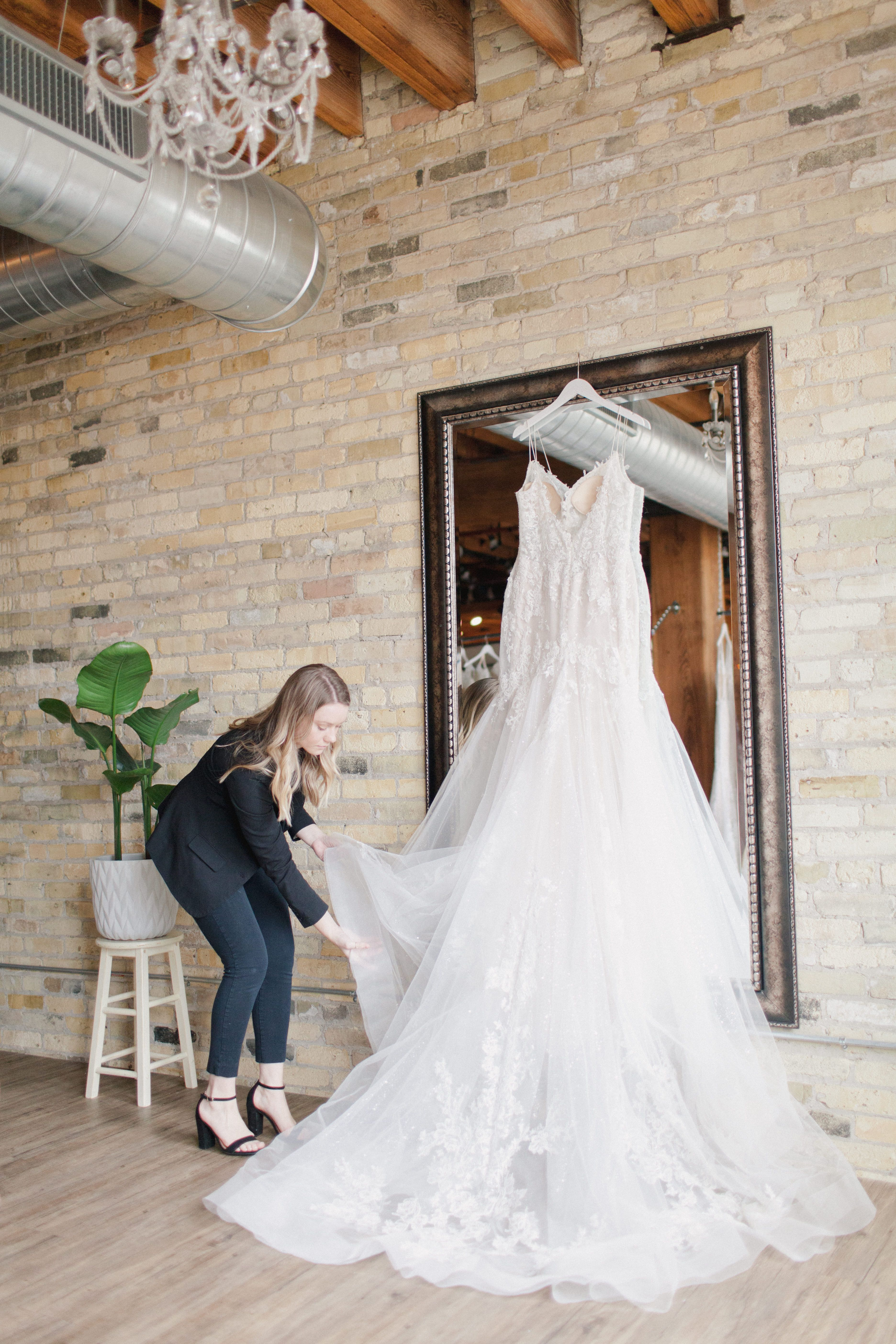 Charming Bridal Boutique With Cream City Brick Historic Wooden Beams Sweeping Views Of The City And Rows Of Romanti
