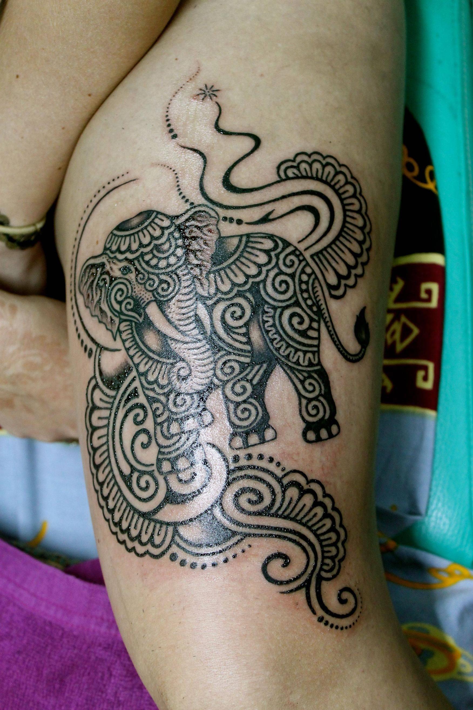 Henna Tattoo In Bangkok: Done By Mr. Tung, Angel Art Tattoos, Bangkok