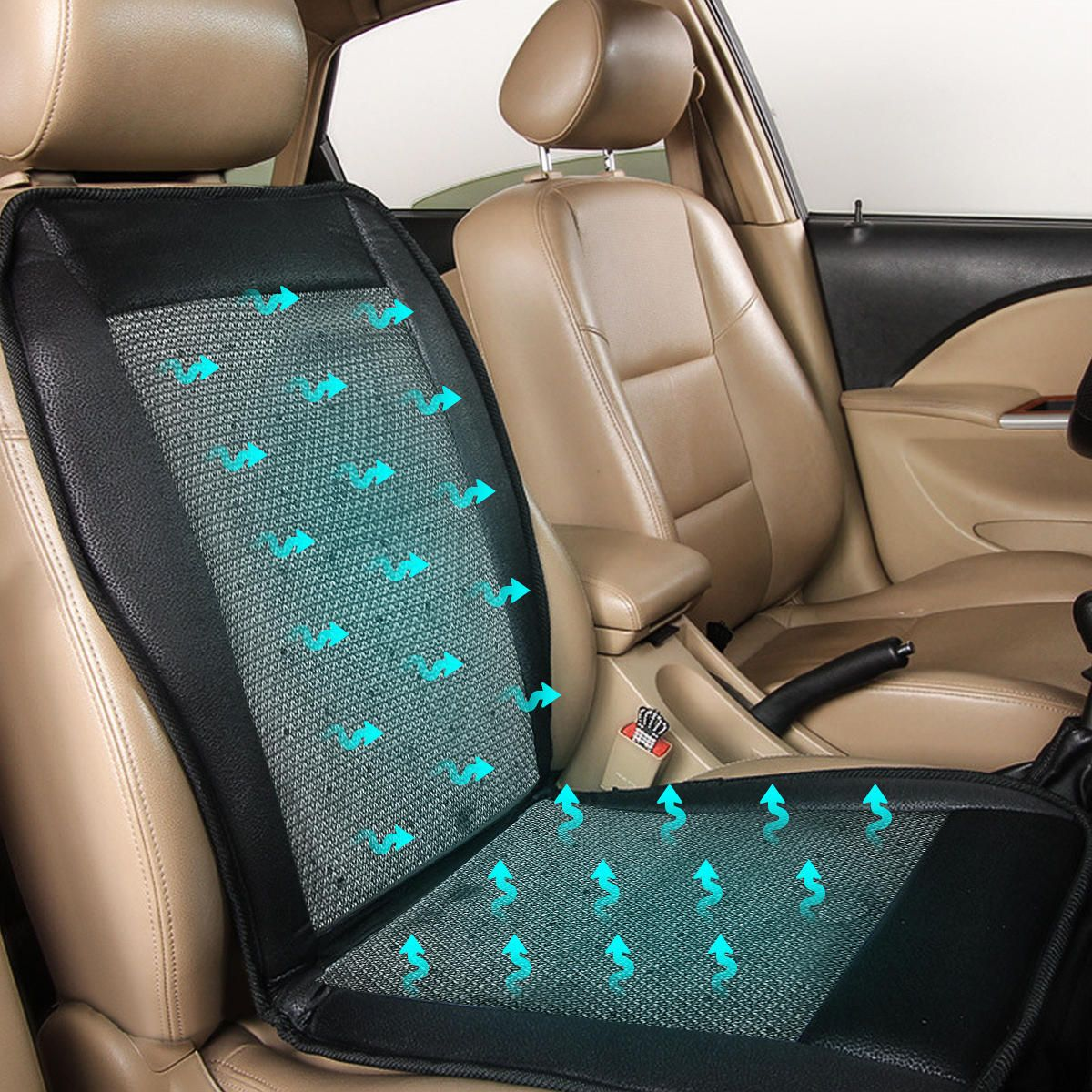 12v Cooling Car Seat Cushion Cover Conditioned Cooler Pad With Air