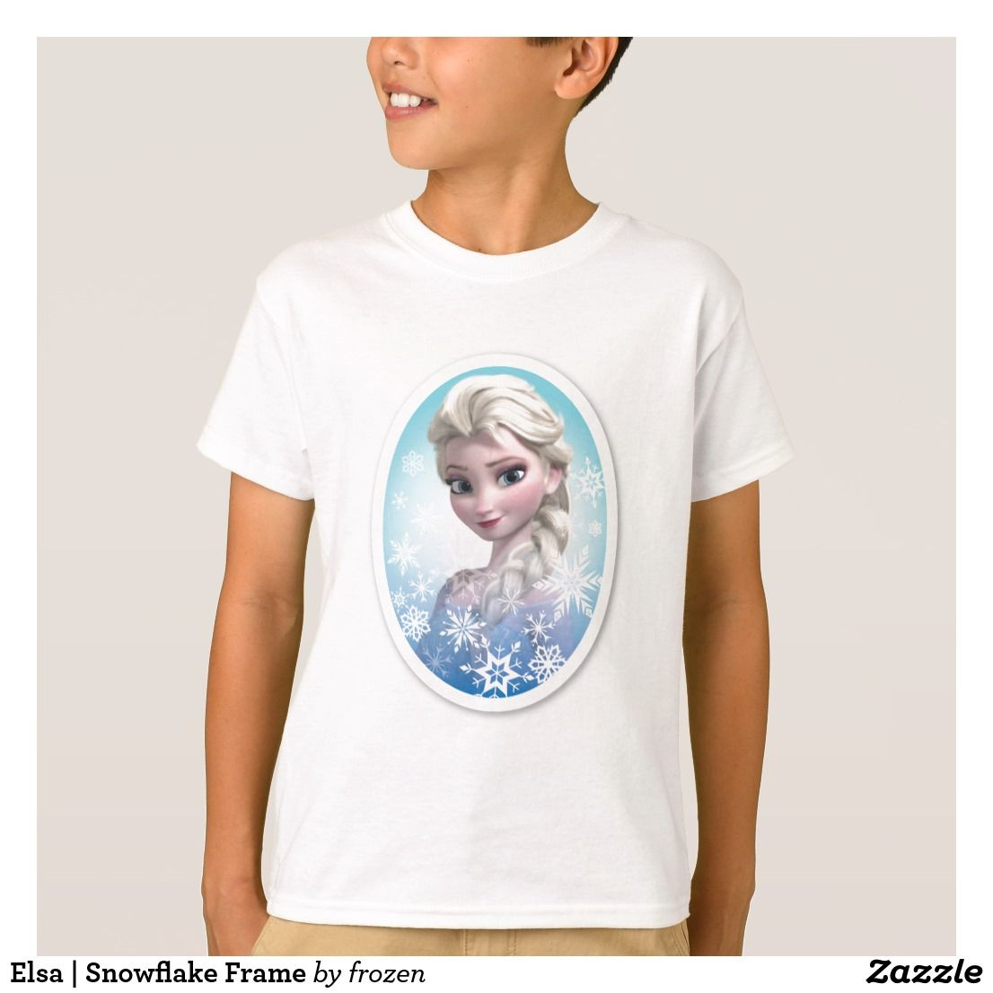 Elsa Snowflake Frame TShirt Cheap kids
