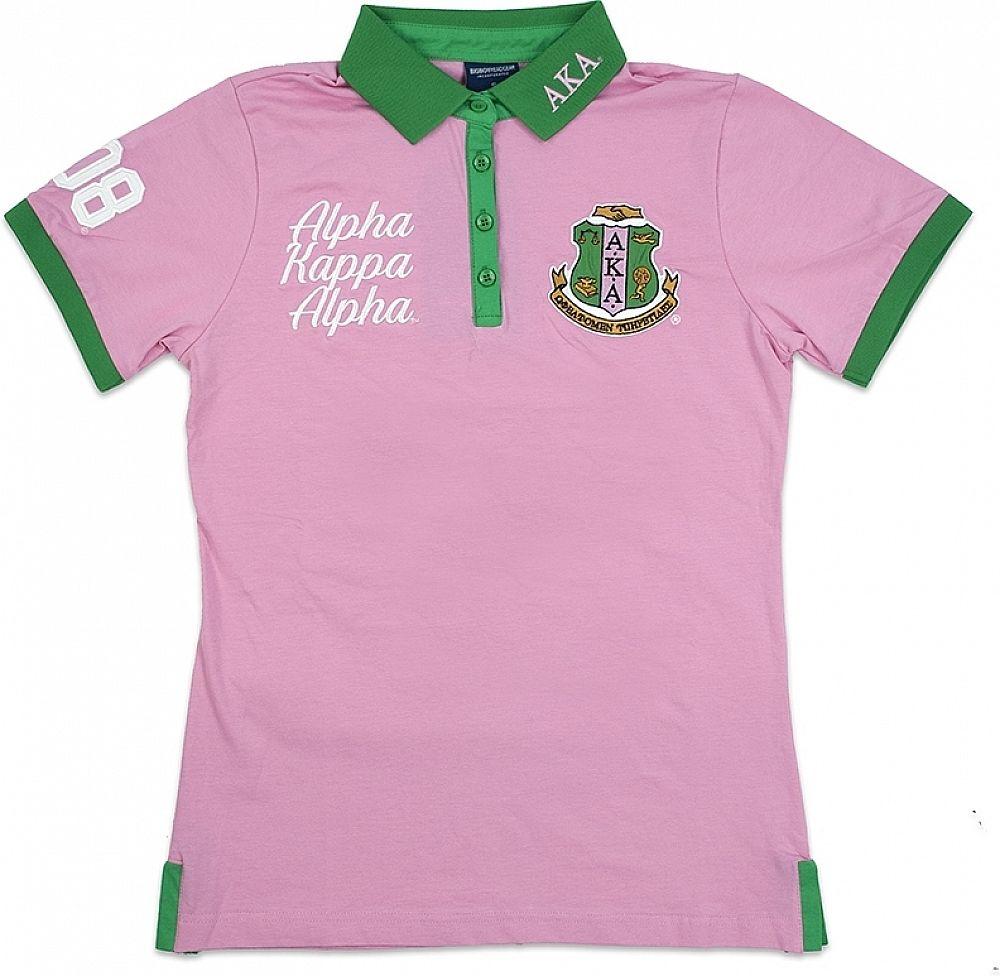 401d754ca1 Big Boy Alpha Kappa Alpha Divine 9 S4 Ladies Polo Shirt [Pink - 4XL]