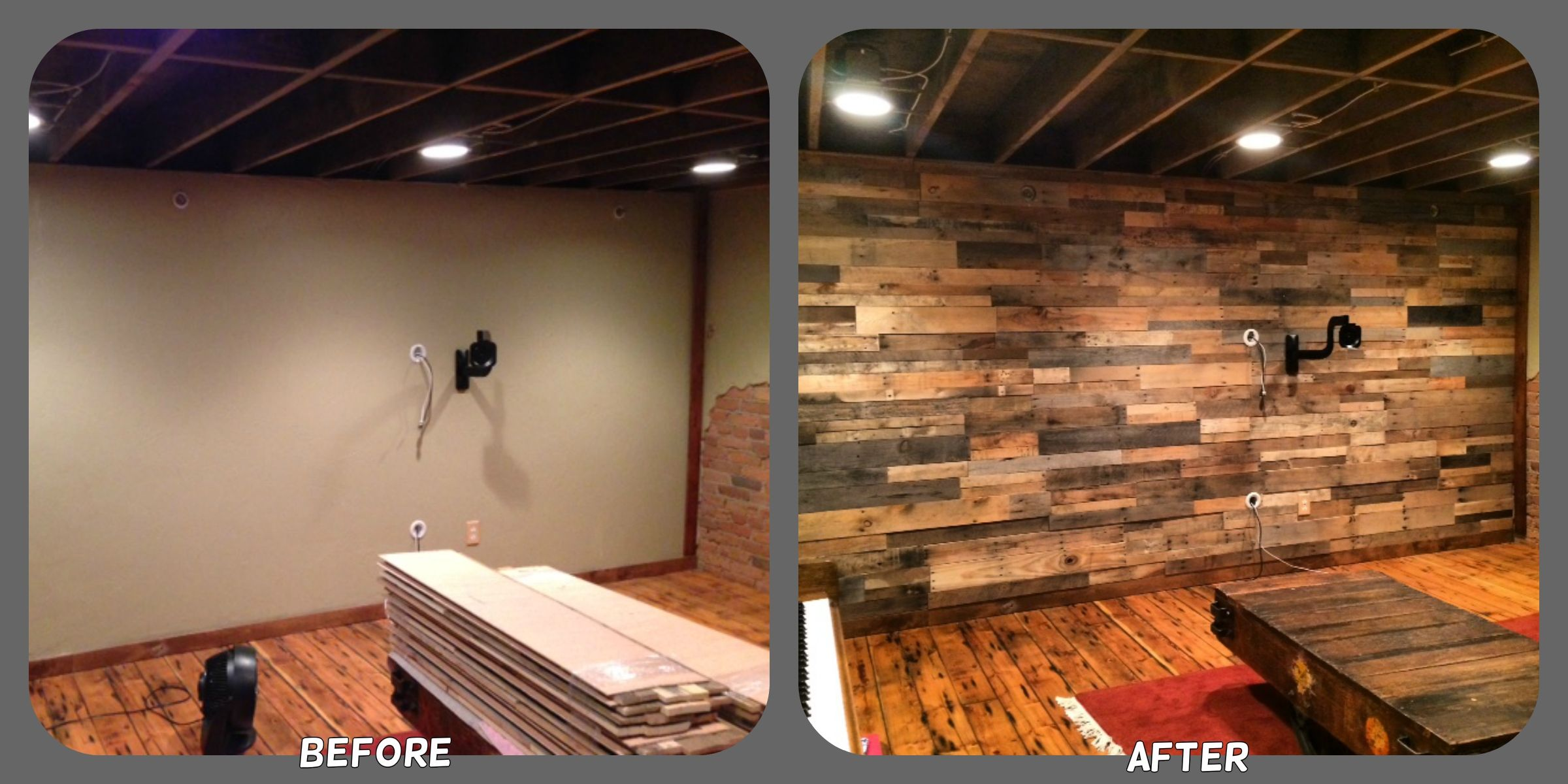 Rustic Wood Wall Coverings | Prefabricated Pallet Wood Wall Panels