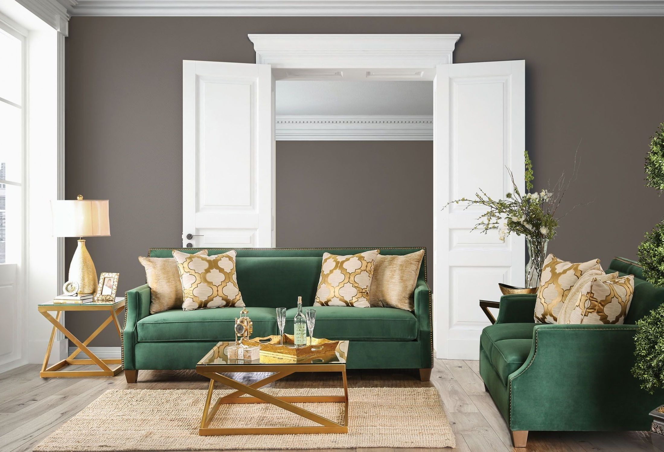 So Quick Decorating Tricks For An Instant Update Green Sofa Living Room Green Sofa Living Green Couch Living Room