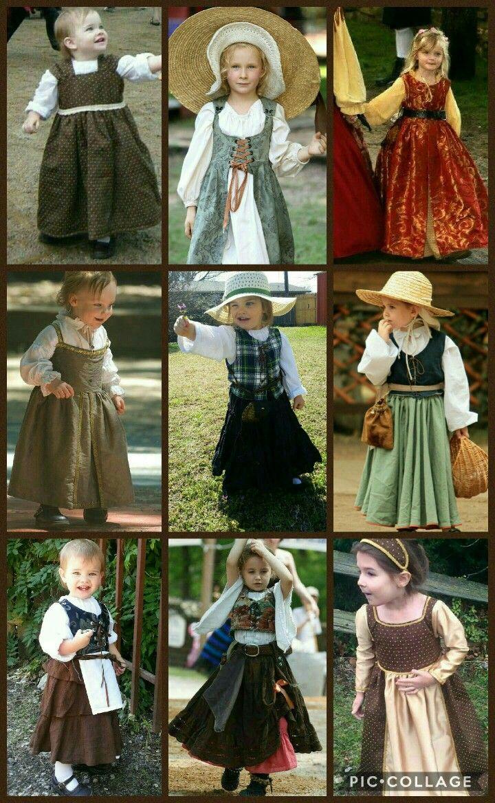 43124441d63b Renaissance fair children Costume for little girls for medieval fair  Princess dresses Adorable Garb for children