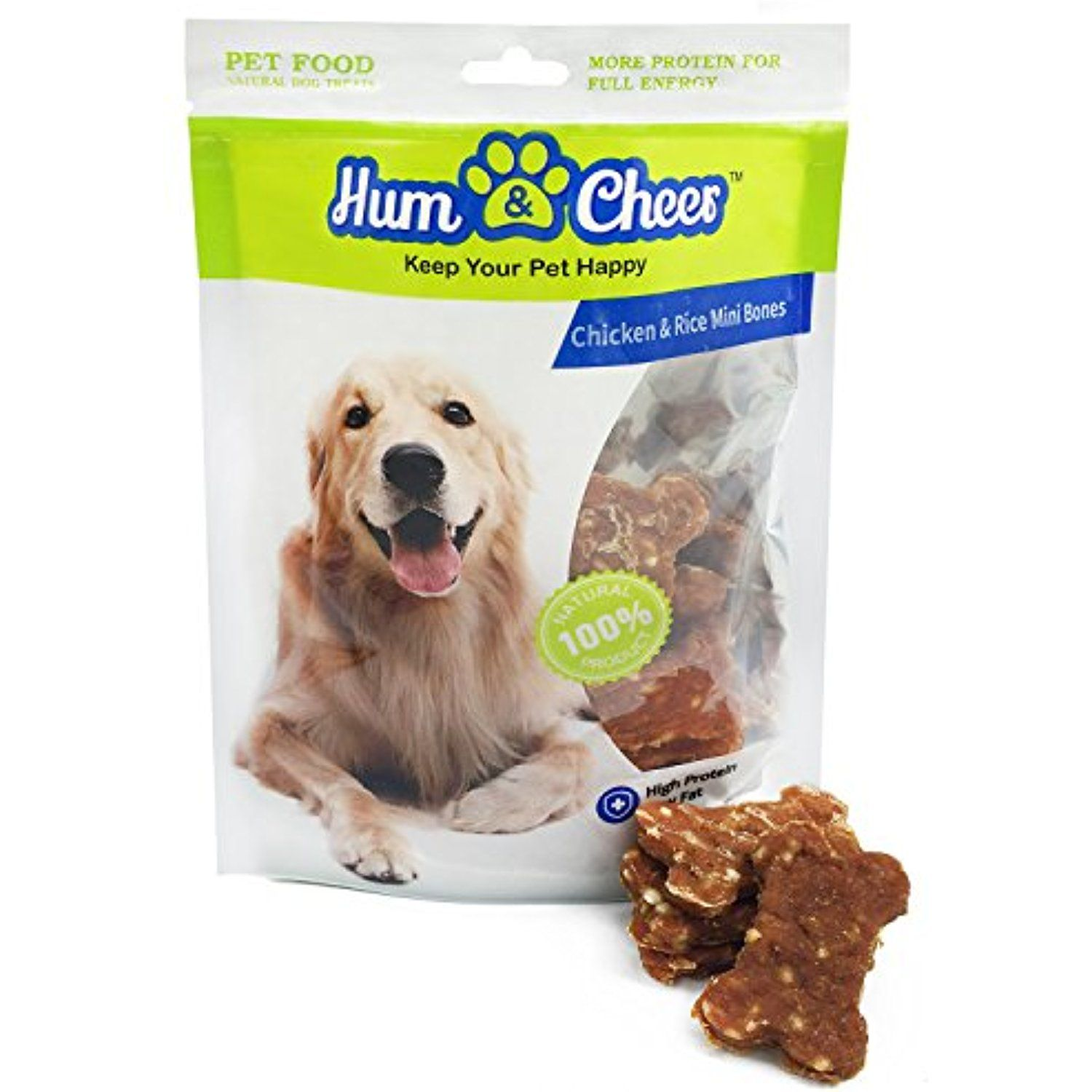Hum Cheer Premium Dog Treats Chews Chicken Rice Mini Bones