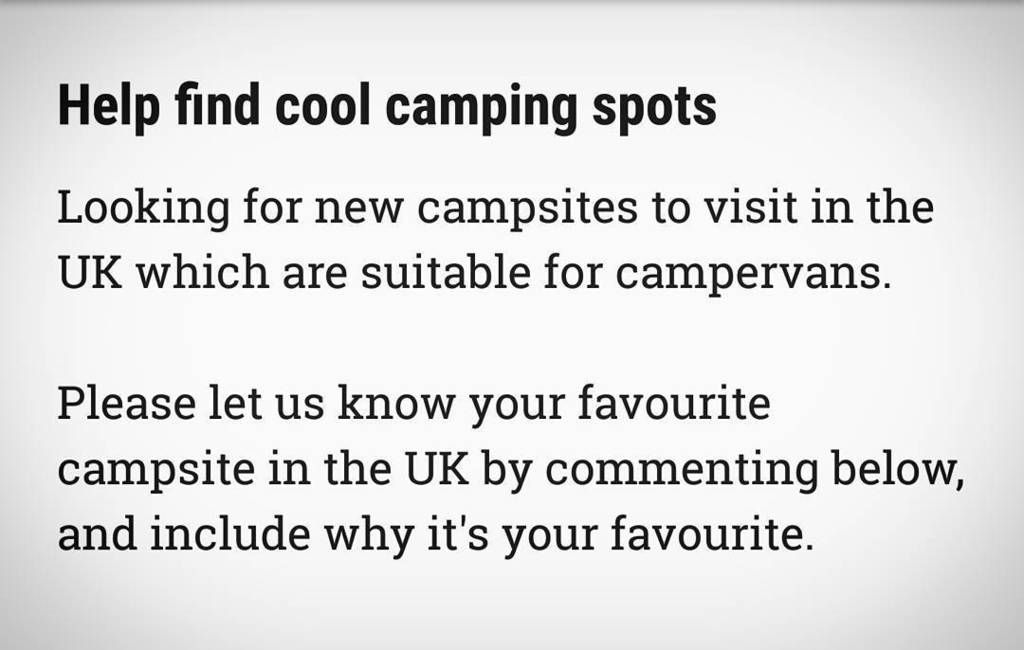 We're looking for more cool campsites to visit. Where is your favourite campsite?  #vw #t25 #komet #vwcamper #volks https://t.co/jf0pzShvv3