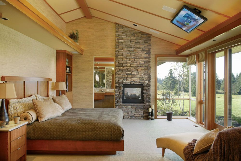 dream master bedroom%0A Slanted Ceiling Home Design And Decorating Ideas  Bedroom TvDream Master