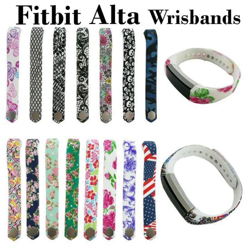 24 Colors Graphic Silicone Fitbit Alta Band Wristband Strap Bracelet Watch Diy Replacement Large Small Fitbit Alta Spo Fitbit Alta Bands Watch Diy Alta Bands