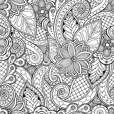 vector ethnic pattern can be used for wallpaper pattern fills coloring books and pages for kids and adults - Coloring Book Wallpaper
