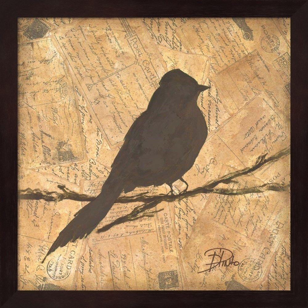 Patricia Pinto \'Bird Silhouette I\' Mahogany Framed Art   Products ...