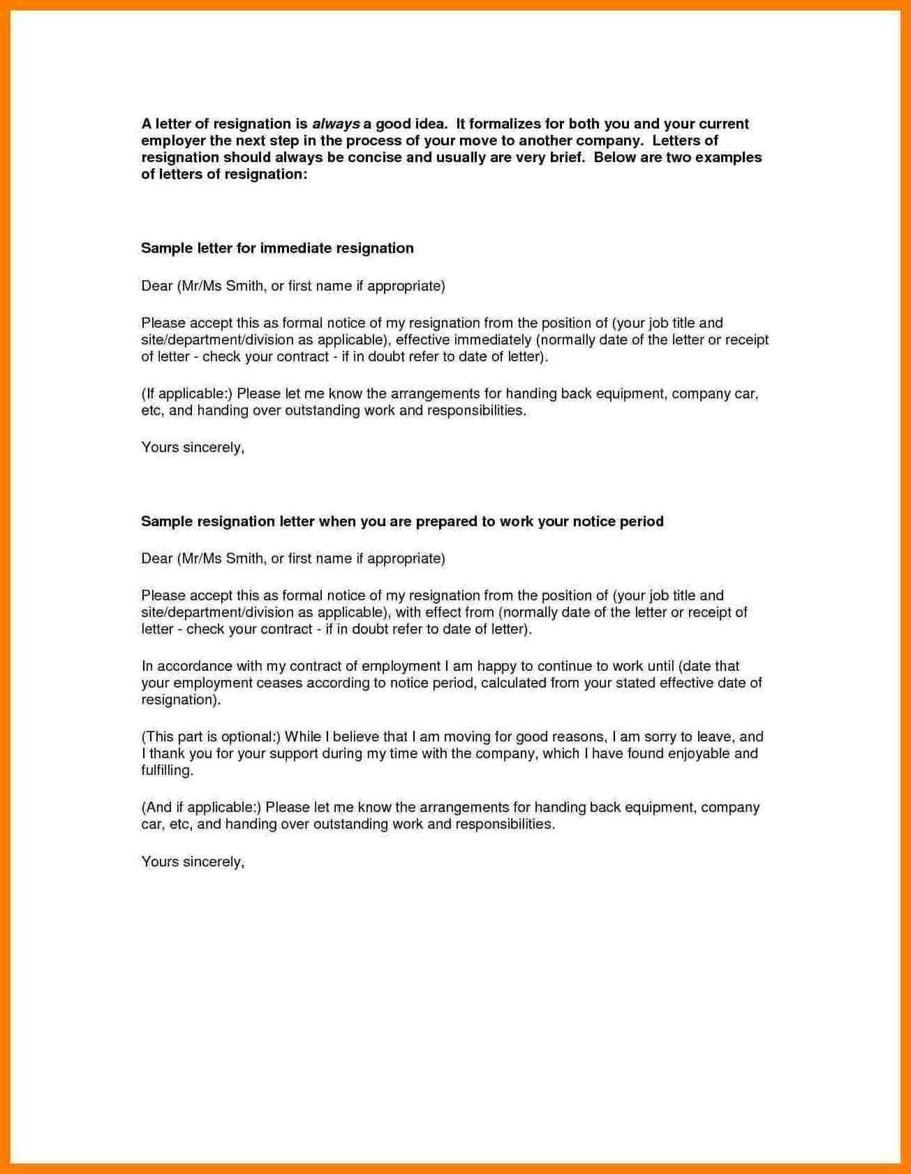 Resignation Letter Effective Immediately in 2020