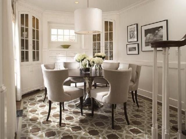 Round Dining Table For 6 People  Kitchen  Pinterest  Round Stunning Round Dining Room Sets For 6 Design Ideas