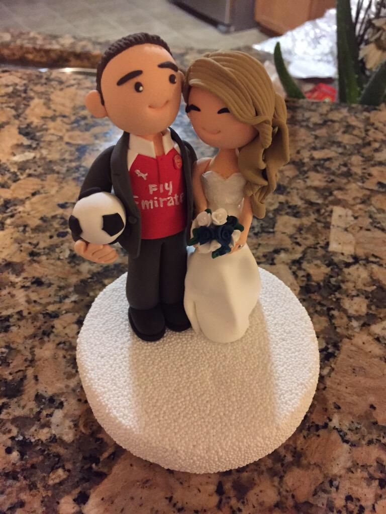 Great Gunner Fan Wedding Cake Topper Way To Go Guy Gunners