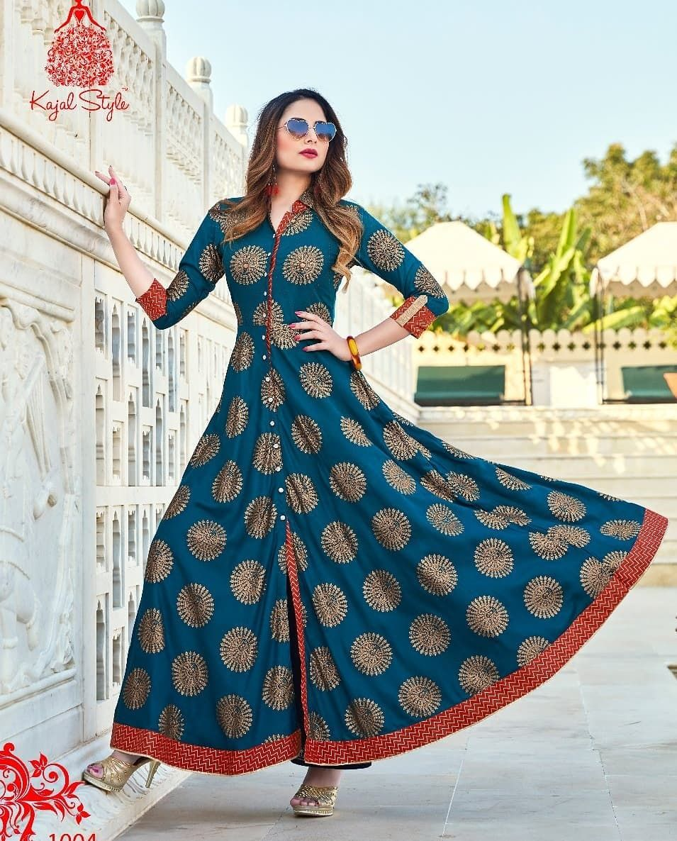 16f52a73ce *Kajal Style* We are launching soon new series of *Fashion Colorbar* . With  Different Fashion And New Rayon pal print with stylish look…