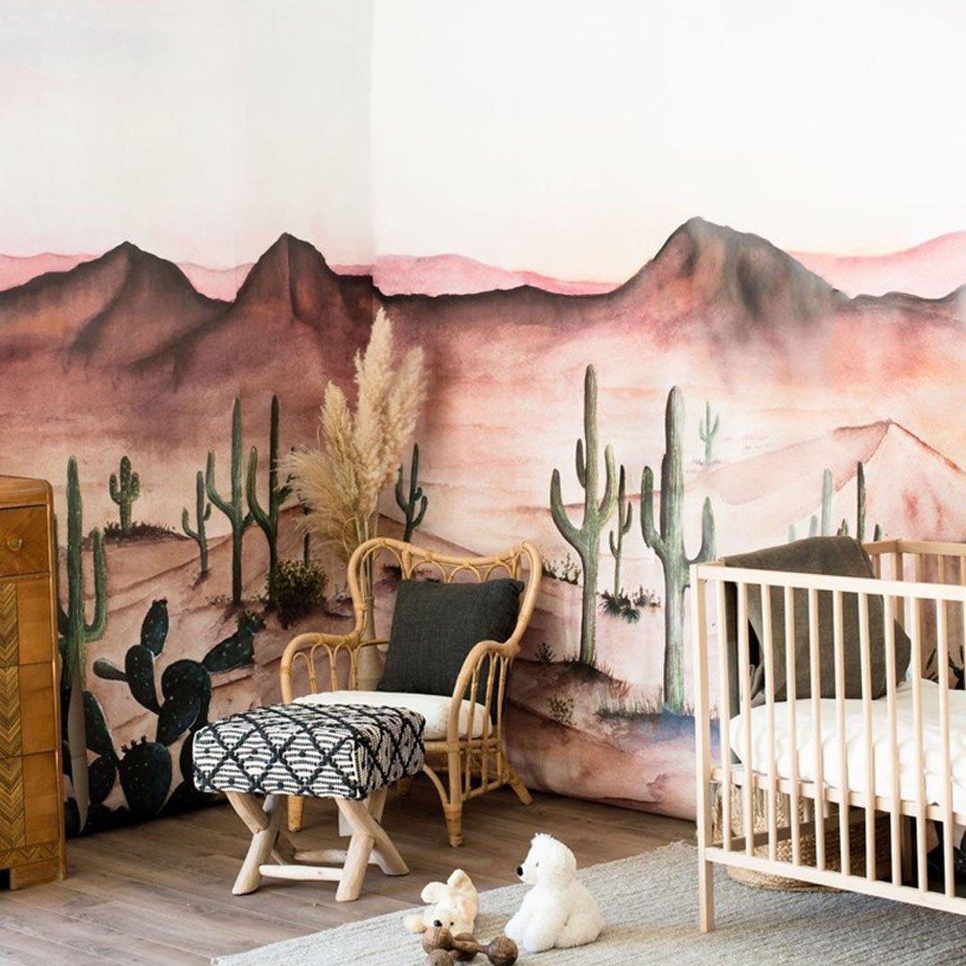 Sedona Wallpaper Mural In 2020 Nursery Wall Murals Western Nursery Western Baby Nurseries