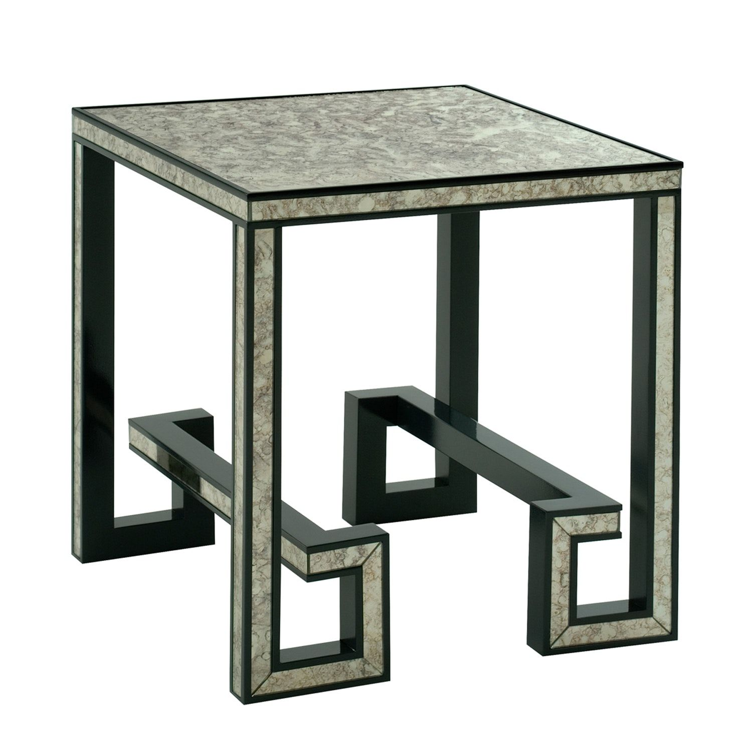 Buy Greek Key Mirrored Side Table by Lamshop Made to Order