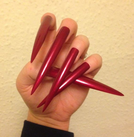 $31.13 A full set of EXTRA LONG false nails - ready to be worn over ...