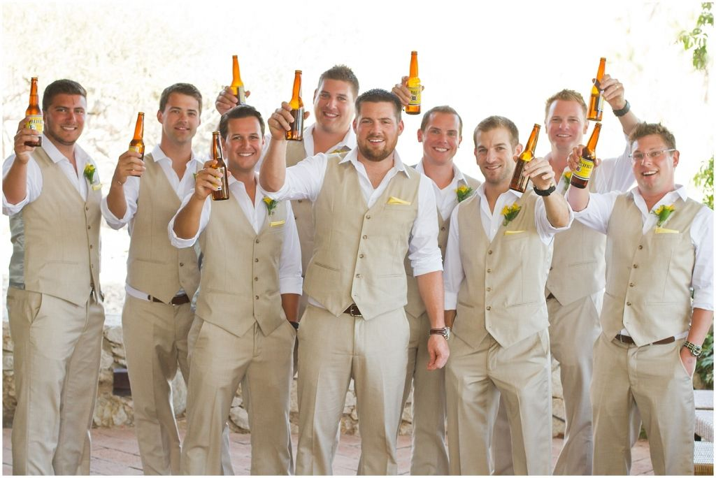 Styling Your Tan Groom Suits For Summer Weddings