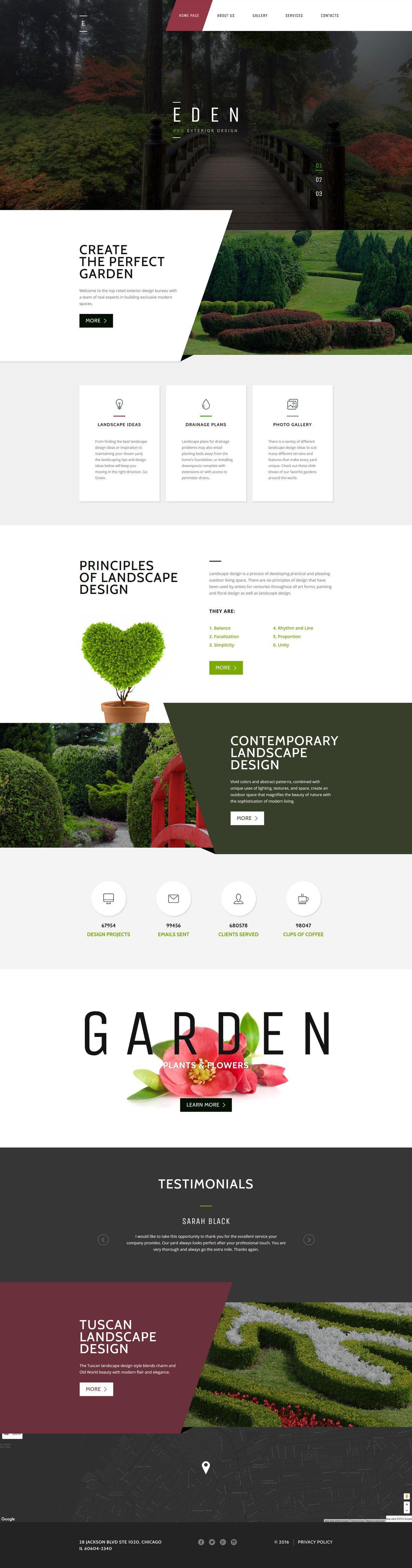 Garden Design Responsive Website Template #58440 http://www ...
