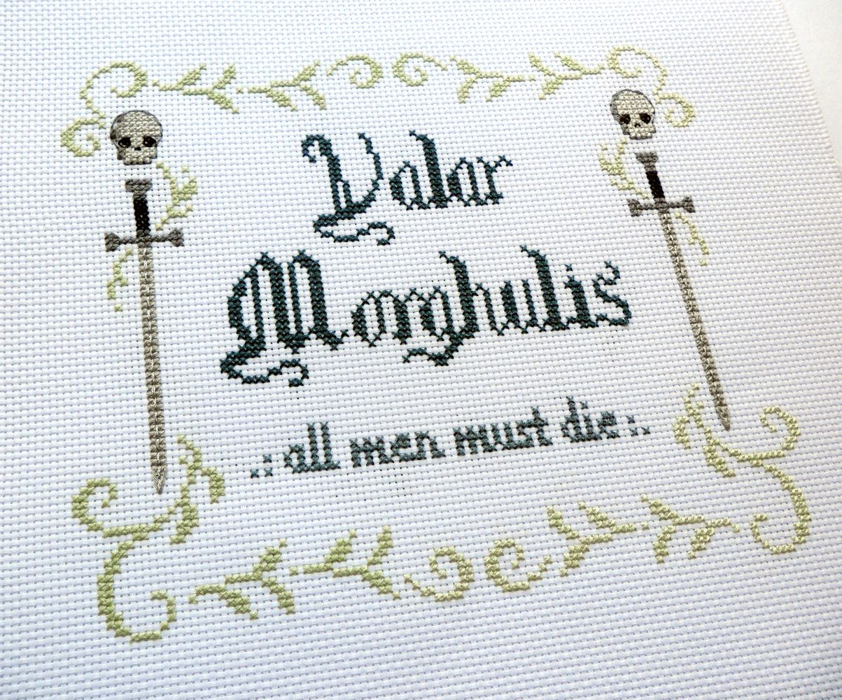 Valar Morghulis - All Men Must Die Game of Thrones Cross Stitch ...