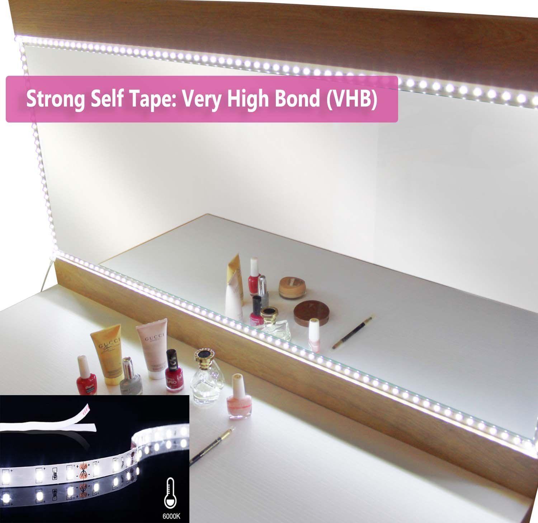 Led Vanity Mirror Lights Kit A Flexible White Led Light Strip For Cosmetic Bathroom Bathroommirrors Led Vanity Mirror With Lights White Led Lights