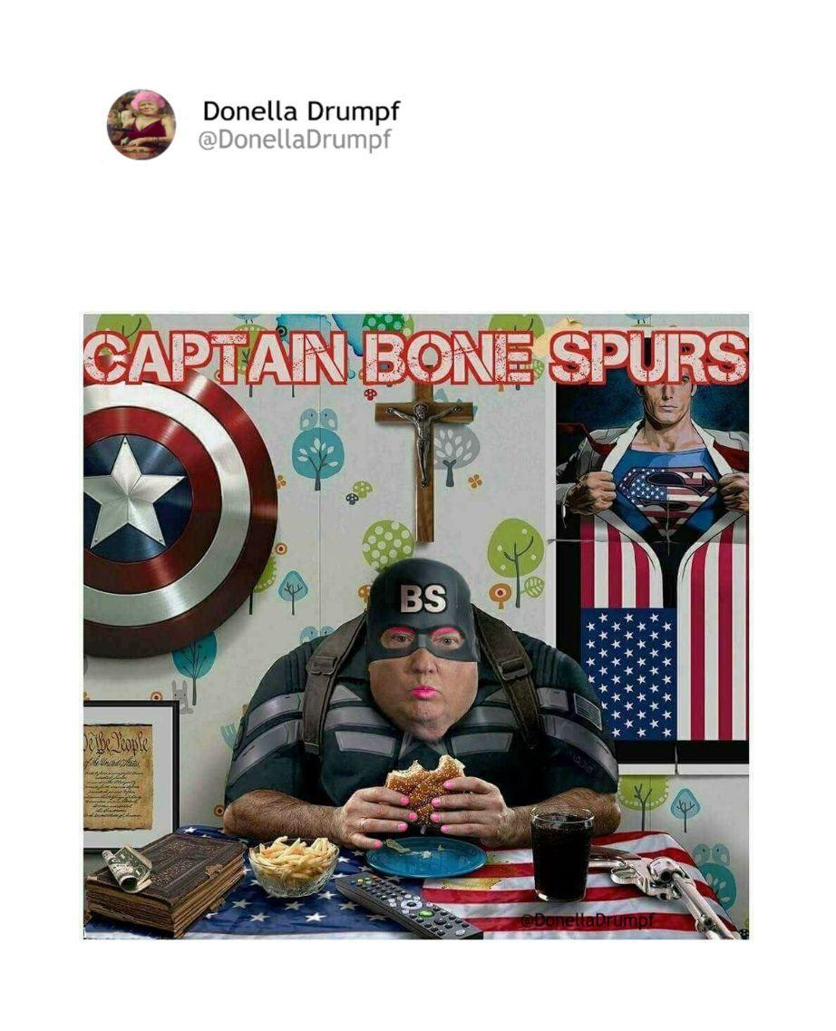 Pin by Socialbutterfly69 on Donella Drumpf Bone spurs