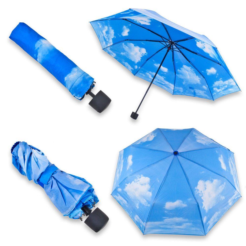 9a9eee11b6 Sunny Sky Cloud Umbrella Sun Compact Folding Blue in Clothes, Shoes ...