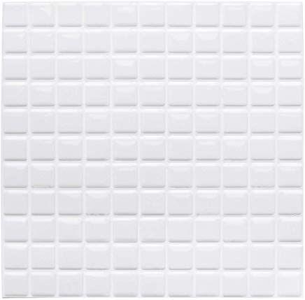 Yoillione 3d Fliesenaufkleber Mosaik Bad Fliesenfolie Kache Selbstklebende 3d Mosaik Fliesen Sticker Weiaÿ Wasser Fliesen Sticker Fliesenaufkleber Fliesenfolie