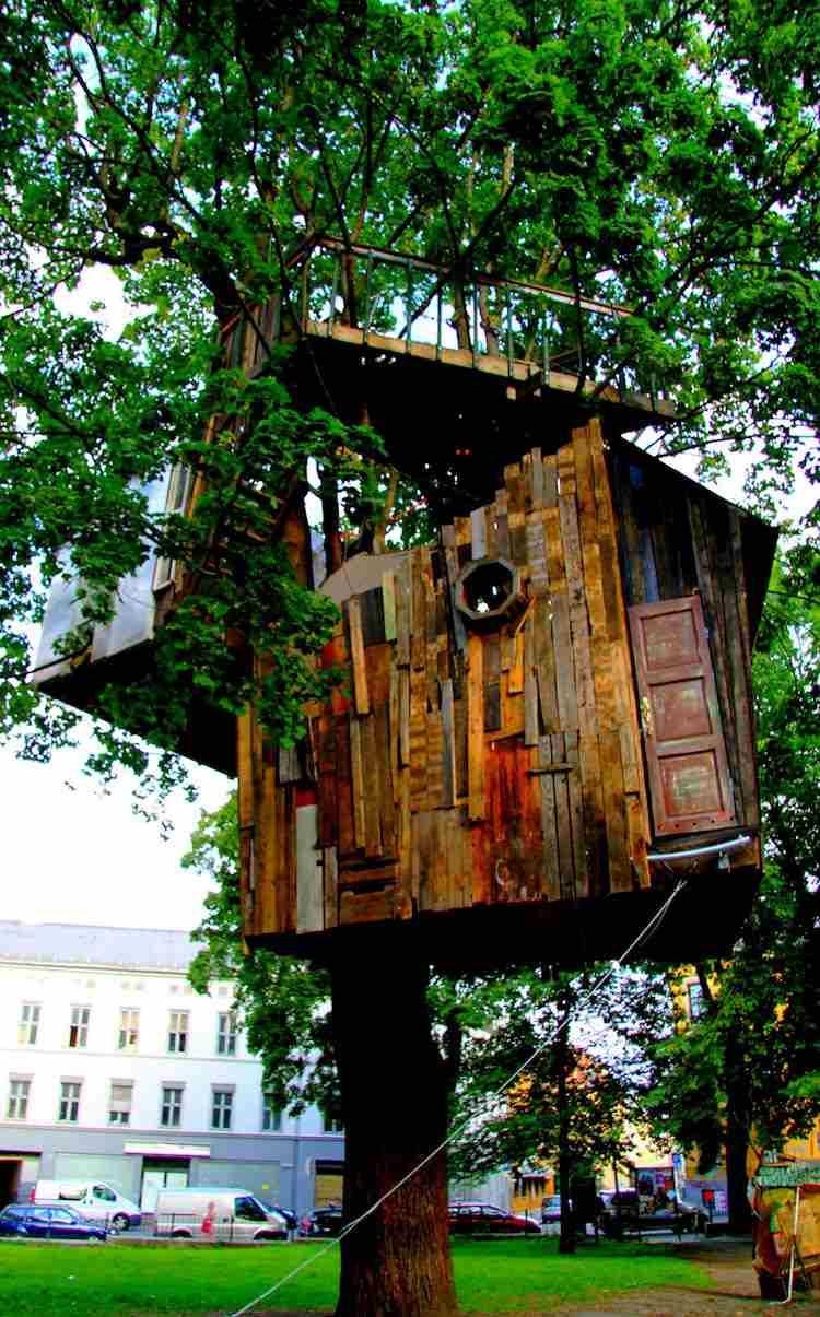 idee cabane dans les arbres planches palettes #garden #jardin #exterior #design