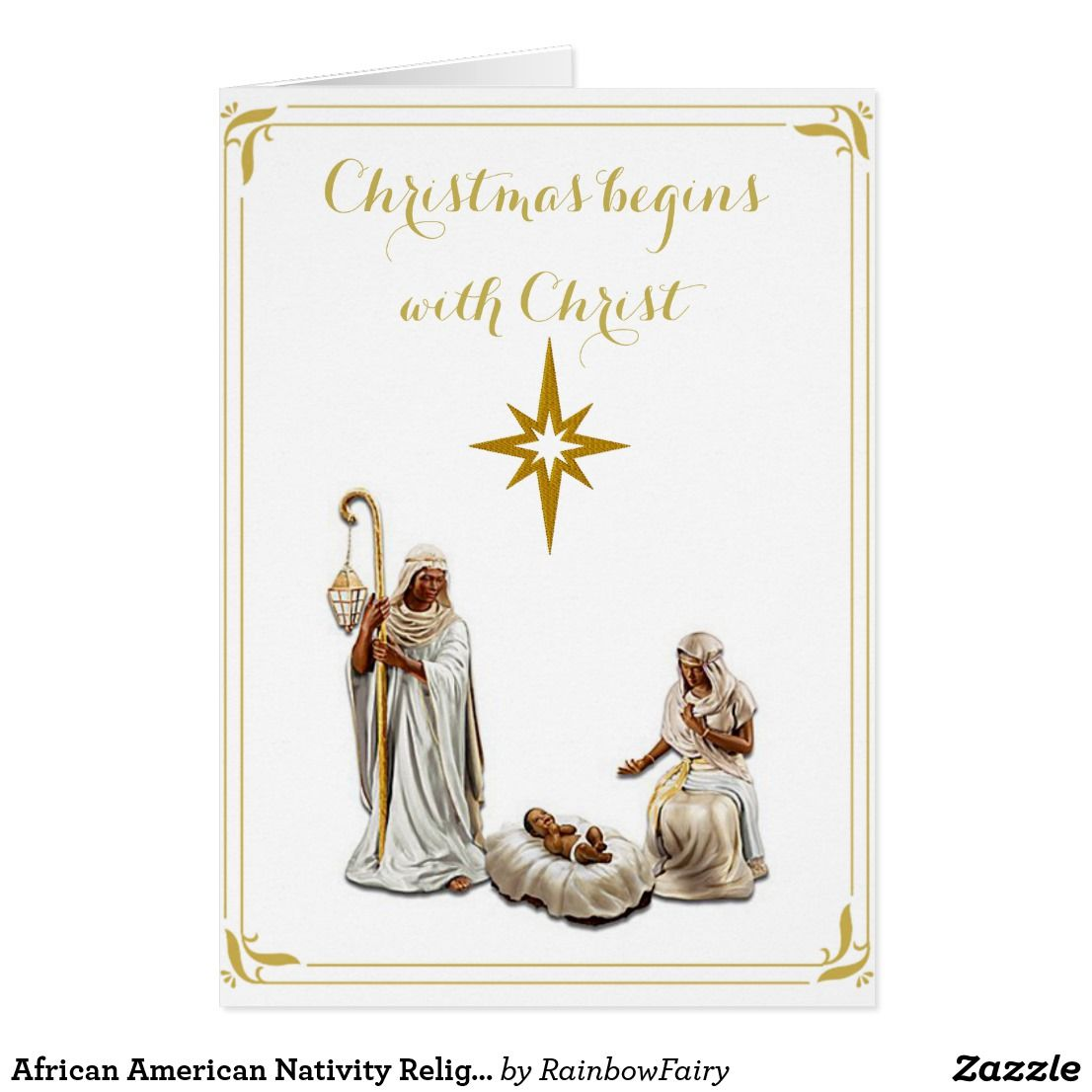African American Nativity Religious Christmas Card Pinterest