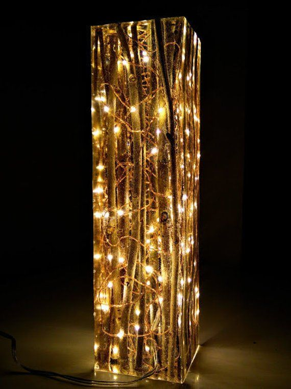 Willow And Resin Light Sculpture